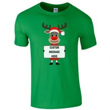 Rudolph Reindeer Custom Message T-Shirt
